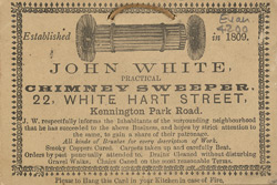 Advert for John White, chimney sweep